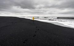 2016-09-30_11-45-00 (halland71) Tags: iceland black beach yellow walkalone walk sea clouds