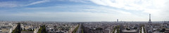 Panorama from Arc de Triomphe (Peter uit Haarlem) Tags: paris panorama arcdetriomphe mobile champselysees toureiffel