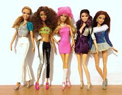 Me & My Girls (honeysuckle jasmine) Tags: mattel barbie fashionistas summer beach nikki glam raquelle teresa sporty dolls