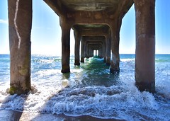 Autumn in California (jeffcay05) Tags: manhattanbeach california losangeles lalife ocean explore beach water pier manhattanbeachpier columns pacificocean architecture la waves nikon nikond5500 tokina tokina1116 cali blue column