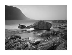 A rock in the weary land (rockallkalle) Tags: black white seascape rock sea long exposure