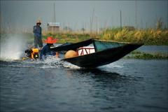 Red hat (*Kicki*) Tags: boat longboat people men myanmar burma shanstate inlelake inlaylake inle inlay lake water nature speed speedboat spray candid asia red hat