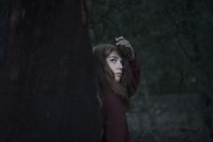 Chiara #9 (edgardomaxia) Tags: people beautiful beauty wood autumn portrait girl cute pretty eyes red green hair bokeh 50mm