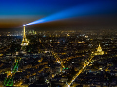 Eiffel Tower from Montparnasse Tower (Dick Shaffer) Tags: france eiffeltower toureiffel invilades cityscape citylights paris travel traveling