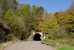 Tunnel (Photo Squirrel) Tags: tunnel hill mountian tree brush autumn fall road yeild sign pennslyvania mancepa
