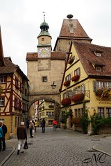 Gate in Rothenburg (Nancleve) Tags: germany rothenburg vacation walls walledcity halftimbered houses buildings gates