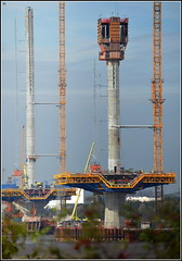 Mersey Gateway Project (Northern and Central Pylons) 21st October 2016 (Cassini2008) Tags: merseygatewayproject bridgeconstruction rubricaengineering rubricaformtravellers rivermersey cablestayedbridge