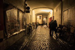 Secrets and Lies (Gilderic Photography) Tags: bruges belgium belgique belgie street rue dark night nuit lights people thriller cinematic shadows silhouettes bicycles city ville canon eos 500d gilderic