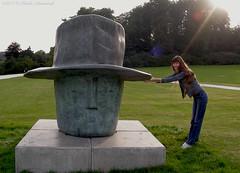 Natalya Hrebionka (Natali Antonovich) Tags: lahulpe park autumn pensiveautumn nature belgium belgique belgie sculpture landscapearchitecture portrait natalyahrebionka hat hats parallels
