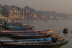 Early morning in Varansi (nicklaborde) Tags: 500px water 14140 lumix boat gx7 ganga india paddle panasonic sunrise varanasi lumixlounge lumixgx7