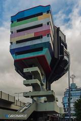 Bierpinsel Dimensionen (Markus Kammerer) Tags: abandonedplace architektur berlin beton brutalismus hochhaus urbex verlassen bunt bierpinsel