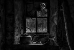 Pot and kettle (ducatidave60) Tags: fuji fujifilm fujixt1 fujinonxf23mmf14 abandoned decay dereliction bw blackandwhite monochrome