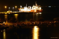 Port d'Alcdia by night * (Mallorca, Balearen, Spanien/Spain/Espaa)  .  P1320205-002 (maya.walti HK) Tags: 2016 281116 agua ausblick balearen copyrightbymayawaltihk espaa flickr hafen mallorca nacht nachtaufnahmen panasoniclumixfz200 port portdalcdia puerto spain spanien wasser water