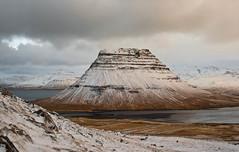 Kirkjufell (geh2012) Tags: kirkjufell snæfellsnes ísland iceland fjall mountain snjór snow ský cloud sjór sea gunnareiríkur geh gunnareiríkurhauksson