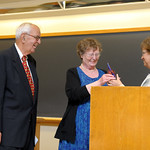 Cathie & L. Gene Lemon receive a Distinguished Honorary Alumni Award from Professor & Head, Wendy Heller