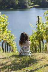 Bellule entre vignes et lac Freiburg (ehaasdelaguerra) Tags: vignes