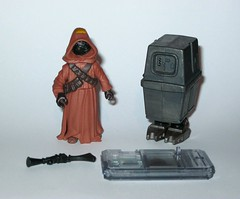 jawa with gonk droid star wars power of the force 2 starburst card basic action figures 1999 hasbro a (tjparkside) Tags: potf2 1999 star wars power force 2 two starburst card cardback jawa gonk droid droids jawas comm chip display stand basic action figure figures hasbro sw anh new hope ep episode 4 iv four commtech ionization gun tatooine scavenger desert energy traders mechanic mechanics foot holes variant version eg6 e g6