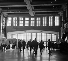 Convention Hall (Dalliance with Light (Andy Farmer)) Tags: jersey mediumformat hp5 rolleiflex boardwalk asburypark conventionhall diafine bw iso800 film shore newjersey unitedstates us
