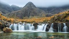 Fairy Pools, Glen Brittle, Skye (catchapman44) Tags: clouds drizzle fog rain landscape scenic canon5dmarkiii canon autumn countryside isleofskye scotland glenbrittle fairypools mountain stream waterfall outdoors moorland