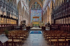 """Carlisle Cathedral """"The East Window"""" (Pensioner Percy, very slow at the moment) Tags: cathedral carlisle d7200 nikon cumbria augustinianpriory carlislecathedra churchwindows windows gothic theeastwindow nikon18140mm old"""