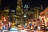 Midnite on a copper and gold Monday (Foodo Dood) Tags: fujifilm xt1 35mm broadwayst columbusst citylights transamericabuilding cars road sf home