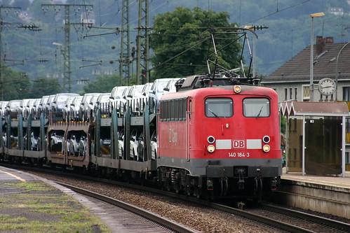 DB 140 184-3 Cobelfret Autozug