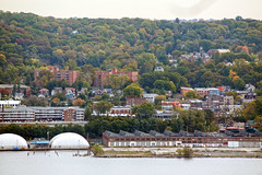 IMG_9537 (dougschneiderphoto) Tags: fall autumn usa ny newyork westchester county view vista rivertowns hudson river across hastingsonhudson hastings waterfront village palisadesinterstatepark statelinelookout building52 bp arco factory brownfield building 52 anacondawireandcablecompany anaconda