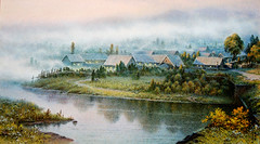 Ri Kéun Sok (nokoredstar) Tags: aquarelle peinture coréedunord pyongyang paysage broderie