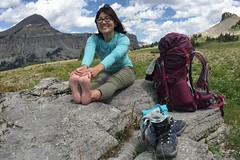 Stretch Break (GlobalGoebel) Tags: alta wyoming unitedstates us iphone iphone6 grand teton national park backcountry backpacking tetoncresttrail