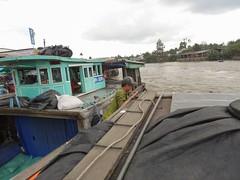 Shove it! (program monkey) Tags: vietnam mekong river delta cargo boat ben tre tra vinh shove off delivery work push