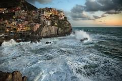 IMG_9439 (michelemenoni80) Tags: seascape landscape dreamscape cinque terre liguria italy mareggiata mare mosso manarola tramonto