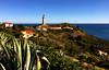The lighthouse at Cap Bear. Cote Vermeille in South of France (JRJ.) Tags: france frankrike capbear lighthouse nature sea mediterranian