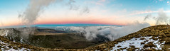 View from Pen-Y-Fan just before sunrise (karlmccarthy1969) Tags: sunrise mountain panorama panoramic breconbeacons penyfan wales mountains snow clouds