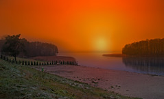 morning. (augustynbatko) Tags: morning sun sky lake nature landscape water autumn