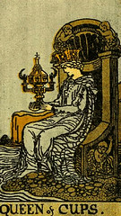 Queen of Cups (~ Lone Wadi Archives ~) Tags: tarot tarotcard blackmagic fortunetelling sorcery occult retro 1910s magic queenofcups
