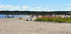 Summer time and beach in Piteaa (GeirB,) Tags: sea sun hot beach strand geotagged fun seaside cool sweden outdoor sverige gps gp1 pite havsbad vackert stersjen bottenviken sommervarme