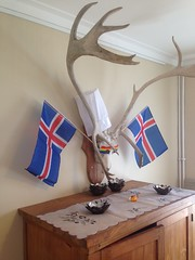 At a restaurant in Laugarvatn, this was some of The decor!