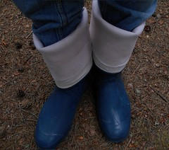 Blue Nokian Kontio (Lisban2009) Tags: wellies rubberboots gummistiefel turneddownwellies foldedwellies