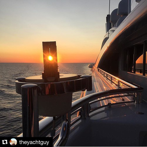 #Repost @theyachtguy with @repostapp. ・・・ Gigayacht Sunsets |  Photo by @stewartacus