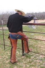 COWBOY PHOTO SHOOT (AZ CHAPS) Tags: ranch arizona leather spurs cowboy boots hats wranglers rope gloves chaps corral