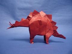 Stegosaurus 2015 - Kawahata (shuki.kato) Tags: animal paper origami dinosaur convention fold stegosaurus 2015 kawahata fumiaki tanteidan