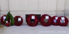 Wreaths (© Freddie) Tags: london bermondsey se1 lbsouthwark oldjamaicaroad queens warmemorial rededicationqueensmemorial poppy fjroll ©freddie