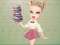 "The It Factor: Theme 2 - High School Cliche - Armani as a ""Nerd"" (Bratzjaderox) Tags: school nerd girl fashion high model doll dolls fierce barbie books flashback mga diva mattel cliche fever nerdy bratz sickening slay mgae"