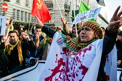 Stop the Genocide (Jonny Dickens) Tags: london turkey war peace protest communism antiwar ankara kurdistan kurd kurds erdogan