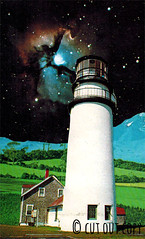 Lighthouse at Urlgun (Impossible Breakfast Thoughts) Tags: art smart collage out cut contemporary vibrant space crafts fantasy curious copy whimsical barbee cutandpaste otherworldly spacey madhattess hauzinger cutoutcopy