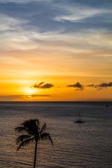 Ka'anapali Beach Sunset, Maui - 16 (www.bazpics.com) Tags: ocean sunset sea summer usa cloud sun west color colour beach water clouds america island hawaii islands us sand unitedstates pacific dusk maui hawaiian hi lahaina kaanapali
