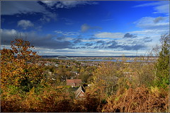 View from Halton Hill,Runcorn 10th November 2015 (Cassini2008) Tags: cheshire autumncolours runcorn runcornbridge runcornhill