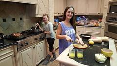 Sydney & Rachael helping prepare the Thanksgiving feast