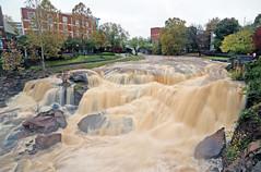 Reedy River High (57) (V-rider) Tags: bridge sc water rain river flow rocks downtown trail waterfalls ralph current greenville muddy reedy rhm swamprabbit waterfll canon6d vrider97 rhmfoto mayerphotoscom rhmphotgraphytllc