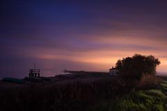 Valli di Comacchio (Lo Zatto) Tags: longexposure night tramonto nuvole barche anita nebbia acqua spiaggia aftersunset nohorizon vallidicomacchio nikond600 nikkor24mmf28afd